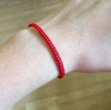 Handmade RED COTTON Fair Trade Friendship Thai Buddhist WRISTBAND Wristwear