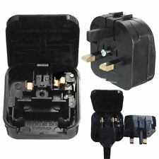 New European Euro EU 2 Pin to UK 3Pin Plug Adapter Power Socket Travel Converter