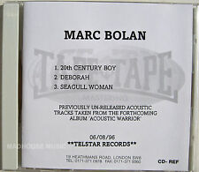 MARC BOLAN CD 20th Century Boy / Deborah / Seagull Woman STUDIO ACETATE UK MINT