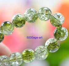 40pcs 8mm Olive green Crystal Crack Glass Charm Round Spacer Beads