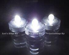 24 White SUBMERSIBLE Wedding LED Floralyte Tea Light