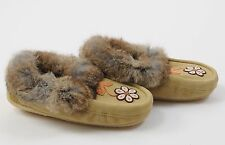 New Womens Manitobah Mukluks Shoes Metis Moccasin Fur Slippers Moccasins size 11
