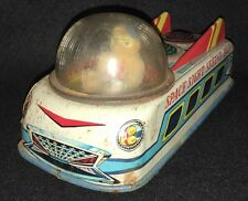 Vintage MASUDAYA Space Sight Seeing Bus Tin Toy Car Japan rocket race yonezawa