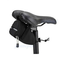 Cycling Bicycle Bike MTB Saddle Outdoor Pouch Seat Bag Frame Black Waterproof
