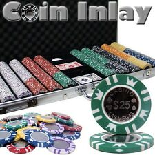 New 750 Coin Inlay 15g Clay Poker Chips Set with Aluminum Case - Pick Chips!