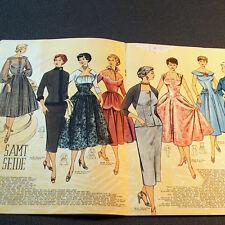 Modezeitschrift MODE UND SCHNITT 1955 - 2 Schnittmuster-Bg 50er Jahre ABENDMODE