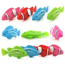 Robo Fish Battery Powered Robofish Clownfish Electric pets Gift Children Toy 4Pc