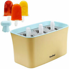 VonShef Frozen Ice Lolly Maker Ice Pop Mould 3 Batch Capacity Up to 9 Lollies