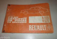 Teilekatalog / Parts List Renault 12 Gordini  R 1173 1971 - 1972 Stand 09/1971