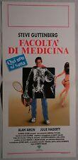 Locandina FACOLTA' DI MEDICINA 1°ED.ITAL.1988 STEVE GUTTENBERG, ALAN ARKIN