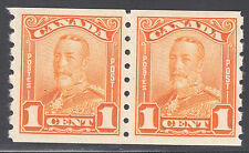 Canada KGV Scroll Coil, Scott 160, VF MNH/MH, catalogue - $180