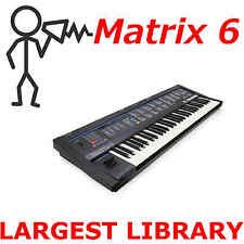 Oberheim Matrix 6 6r 3000+ Largest Patch Sound Program Library SysEx