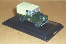 OXFORD DIECAST LAND ROVER SERIES 1 CANVAS CIVIL DEFENCE CORPS 1:76 SCALE MODEL