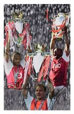 THIERRY HENRY & DENNIS BERGKAMP & IAN WRIGHT - ARSENAL SIGNED A4 PP POSTER PHOTO