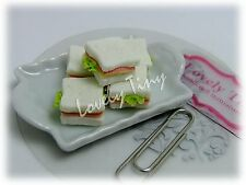 Dollhouse miniature Bread 5 PCs.of Yummy Ham and Cheese Sandwiches(Whole bread)