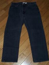 "MEN'S VINTAGE USA LEVI'S 505 REGULAR FIT DENIM JEANS W 36"" L 30"" BLACK"