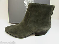 Vince Camuto Size 8 M Italian Olive Leather Ankle Boots New Womens Shoes