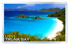 TRUNK BAY ST JOHN US VIRGIN ISLANDS FRIDGE MAGNET SOUVENIR IMAN NEVERA