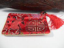 Satin Brocade Silk Cash Money Coin Change Purse Wallet Chinese Oriental Bag #dd