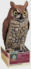 "New! Dalen Gardeneer Great Horned Owl Ornamental Scarecrow 16"" Tall Plastic OW-6"