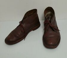 Brown Real Leather Lace-Up Ankle Desert Boots Sand Shoes Clarks Originals 7 41