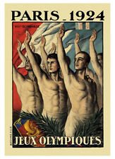 PARIS FRANCE 1924 Summer Olympic Games Official Olympic Museum POSTER Print
