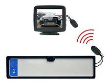 """KFZ Kennzeichenhalter Rückfahrkamera & 3.5"""" Monitor & Funkübertrager"""