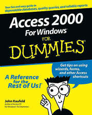 Access 2000 for Windows For Dummies,VERYGOOD Book