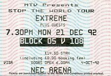 EXTREME CONCERT TICKET 1992 ORIGINAL VALUABLE GEM VINTAGE BIRMINGHAM RARE MINT