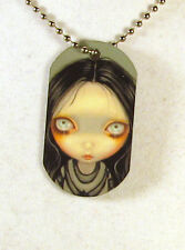 Jasmine Becket-Griffith Art witch goth Dogtag Necklace Three Witchy Sisters