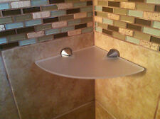Custom corner shelf shower shelf  brushed nickel  acrylic  MADE IN THE USA
