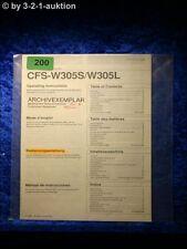 Sony Bedienungsanleitung CFS W305S / L Cassette Corder (#0200)