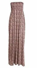 New Womens Plus Size Boob Tube Printed Sheering Summer Maxi Dress 8-26