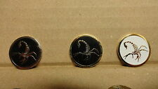 1 ONLY SCORPION GOLF BALL MARKERS -QUALITY HANDMADE & (BAKED ENAMEL)