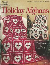 Holiday Afghans Crochet Instruction Patterns Christmas Halloween Easter+ Maggies