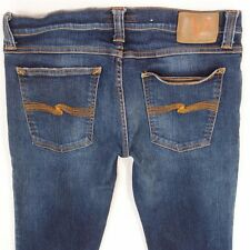 Mens Nudie SLIM KIM Stretch Slim Straight Blue Jeans W32 L34