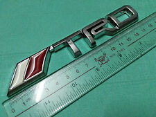 3D Chrome TRD Racing Development Logo Metal Badge sticker for toyota