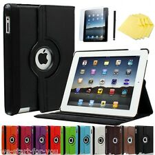 360 ° Apple iPad 4 & 3 & 2 Housse de protection + Film sac smart cover case cuir synthétique