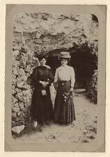 PHOTO ANCIENNE Chapeau de paille Mode Deux Femmes Vers 1920 Fleurs Vintage