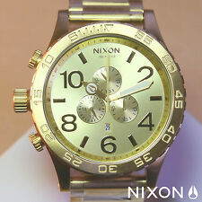 NEW NIXON Watch 51-30 Chrono ALL GOLD,5130, ,A083502,MEN GIFT!SALE FREE SHIP!