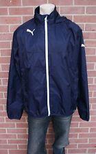 Puma Mens Rain Jacket Long Sleeved Lightweight  Hooded Dark Blue Sz XL RP $60.00