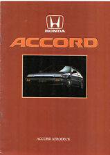 Honda Accord Aerodeck 1986 UK Market Sales Brochure 2.0 EX EXi