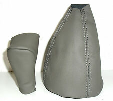 MERCEDES CLASSE A W 168 cover knob + headphone gear lever REAL LEATHER GRAY