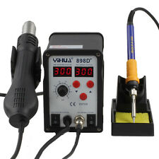 YiHUA-898D+ 2-in-1 Electric SMD Desolder Soldering Station Hot Air Gun w 11 Tips