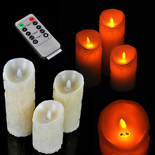 Romantic Flameless LED Carved Swing Electronic Candle Light Remote Control Timer