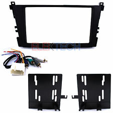 Double DIN Radio Dash Mounting Kit & Harness to Retain Amp for Acura CL & TL