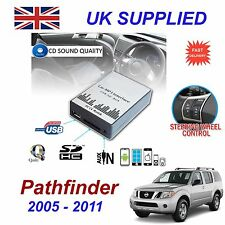NISSAN PATHFINDER MP3 USB SD CD AUX Ingresso ADATTATORE AUDIO DIGITALE CD Cambia modulo