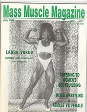 MASS MUSCLE MAGAZINE bodybuilding female wrestling /Laura Vukov 7-94