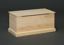 AMISH ~ Rustic Pine UNFINISHED LG. PINE BLANKET Chest Trunk DOVETAIL Corners