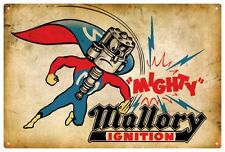 MALLORY IGNITION  Retro Tin Sign 20 x 30 cm